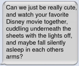 cute, text, and disney image