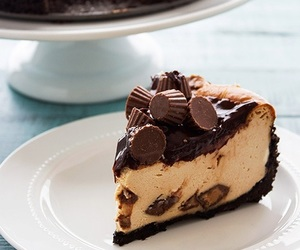 cheesecake, food, and cake image