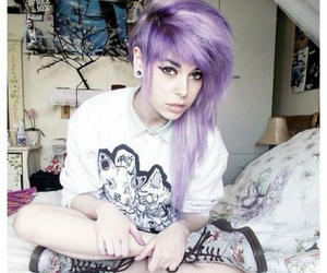 purple hair and hair image