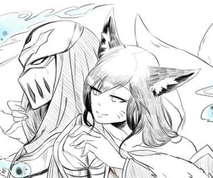 zed, ahri, and league of legends image