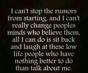 quote, laugh, and rumors image