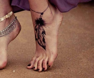 foot tattoo, tattoo, and ankle tattoo image