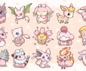 pink and pokemon image