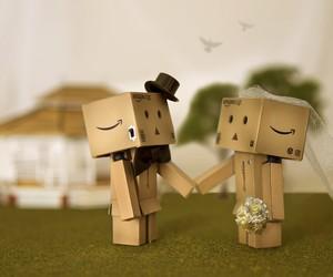danbo, wedding, and marriage image