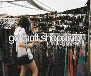 before i die, shopping, and thrift shopping image