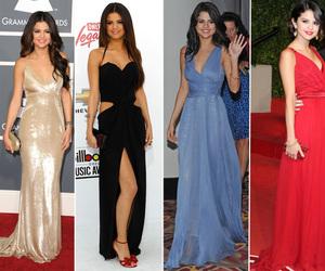 dress, selena gomez, and skinny image
