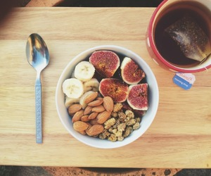 almonds, morning, and oatmeal image