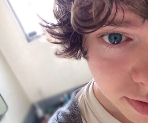 16, blue eyes, and exclamation point image