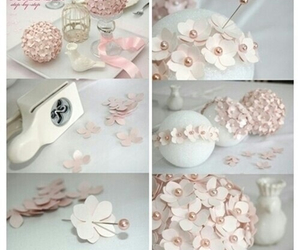 diy, flowers, and pink image