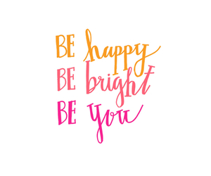 happy, quote, and bright image