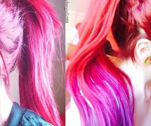 alien, color hair, and colorful image