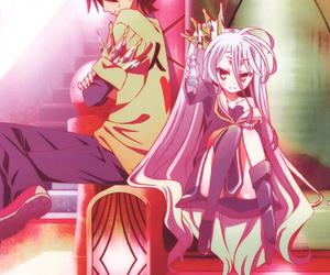 shiro, sora, and no game no life image