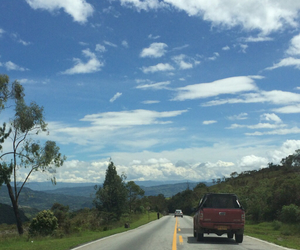 colombia, sky, and Road Trip image