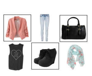booties, fashion, and Polyvore image