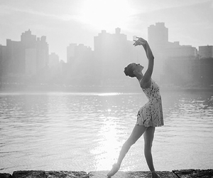 background, ballet, and black & white image