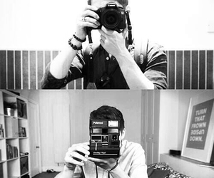 aww, black and white, and camera image