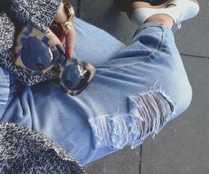 fashion, jeans, and sunglasses image