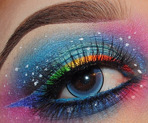 cool, eye, and eyeshadow image