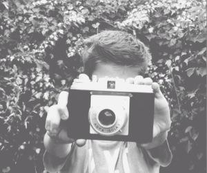 boy, camera, and fashion image