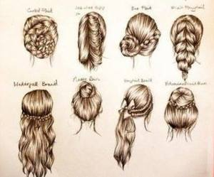 hair, lovely, and style image