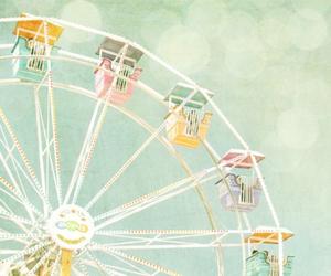 pastel, ferris wheel, and vintage image