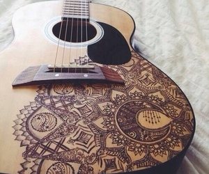 <3, guitar, and music image