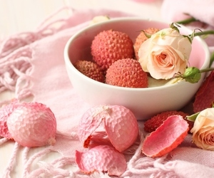 pink, lychee, and rose image