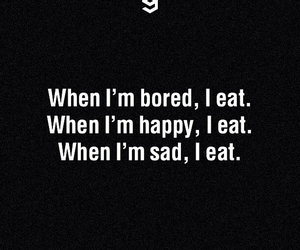 happy, food, and eat image