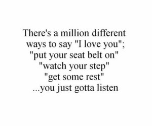 love, I Love You, and listen image