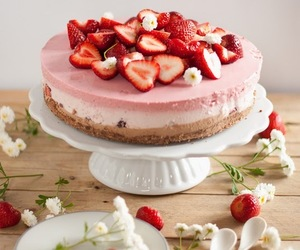 cake, strawberry, and delicious image