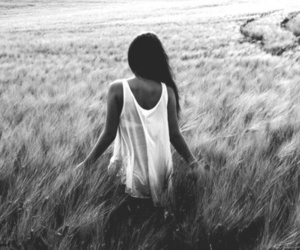 girl, black and white, and photography image