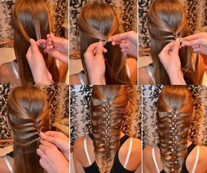 braided, hair, and hairstyle image