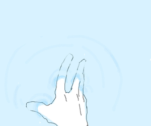 blue, hand, and water image