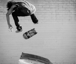 black and white, skate, and skaters image