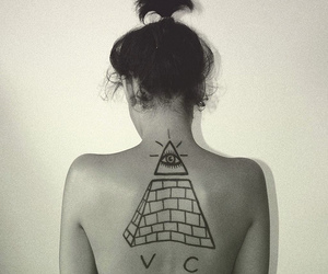 girl, illuminati, and photography image