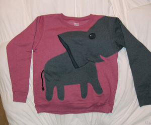 elephant, sweater, and sweatshirt image