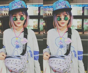 asian, hair dye, and hipster image