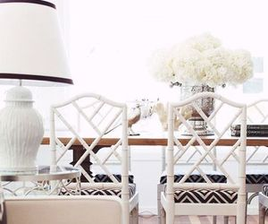 dining room, white, and lovely image