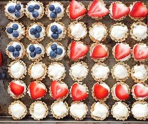 berries, food, and tarts image