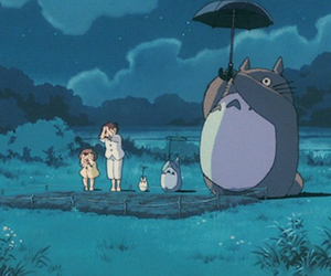 anime, plant, and totoro image