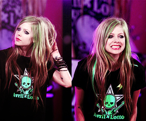 Avril Lavigne and smile image