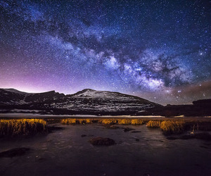 long exposure, milky way, and stars image