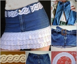 diy, skirt, and old jeans image