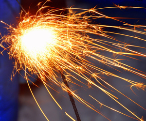 cool, firework, and light image