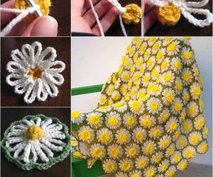 crafts, crochet, and daisy image