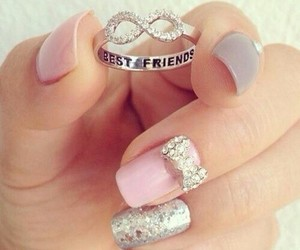 accessories, best friends, and nail art image