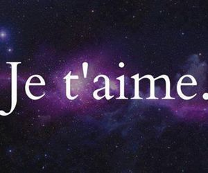 je t'aime, love, and galaxy image