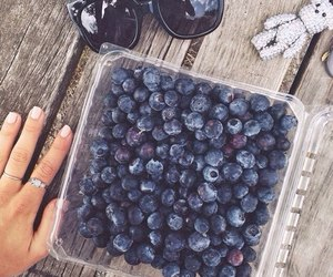 berries, blueberry, and nails image