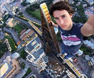 selfie, boy, and city image