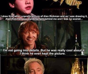 harry potter, funny, and alan rickman image